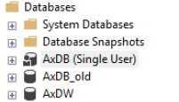Fix to change Dynamics 365 – database to multi user mode